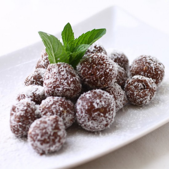 Cacao and Coconut Energy Balls