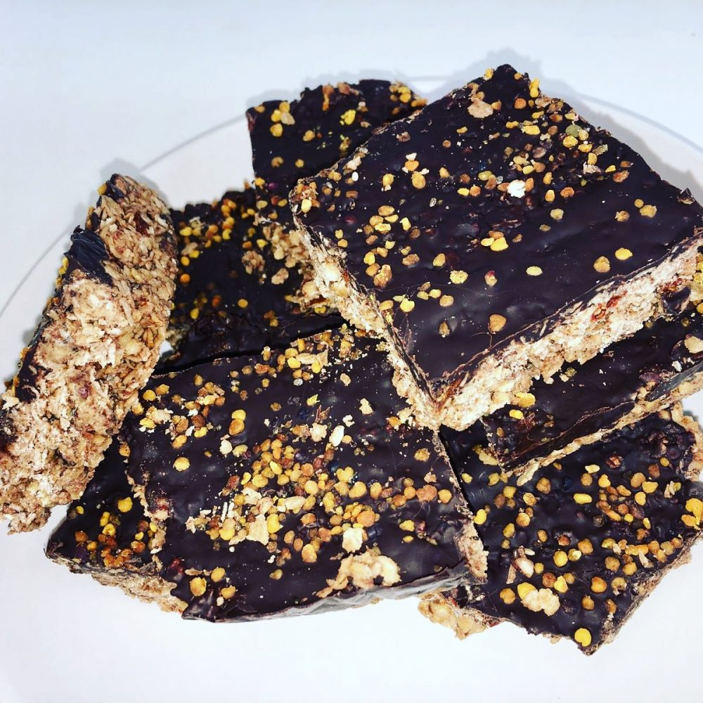 Bee Pollen Peanut Butter Flapjacks